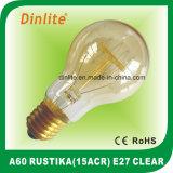 A60-8 (ACR) -E27-Clear et Golden Rustika Bulb