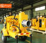 De tot zwijgen gebrachte Self-Priming Diesel Pomp van het Water met Aanhangwagen