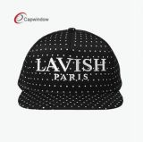 5 Panel PU Leatehr Snapabck Hat mit Customized Logos auf Hat