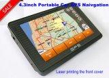 """Navegación del GPS del coche de la venta caliente 4.3 """" con la CPU dual de 800 megaciclos de la mueca de dolor 6.0"""