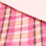 オーバーコートのための50%ポリエステル50%Wool小切手の毛織ファブリック