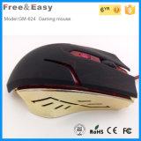 最もよい人間工学的USBの光学6Dによってワイヤーで縛られる賭博マウス