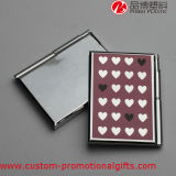 Cuaderno duro de la cubierta del corazón del metal útil rosado del modelo