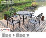 Getto esterno rotondo resistente per qualsiasi tempo resistente del metallo del giardino del patio delle presidenze e della Tabella pranzante