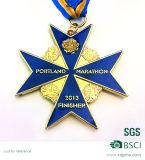 Progettare la medaglia per il cliente trasversale dell'oggetto d'antiquariato della medaglia delle medaglie di sport del bronzo dell'argento dell'oro 3D (XDMDS-218)