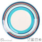 """10.5 """" disegni di ceramica di Handpainting del piatto di pranzo"""