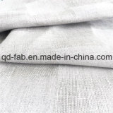 Tela de lino teñida hilado del telar jacquar (QF16-2471)