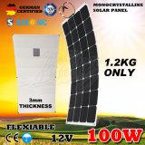 12V 100W outre de grille Sunpower monocristallin pliant le panneau solaire