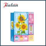 Glossy Laminated Art Paper Sunflowers Sac à provisions