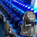 7PCS poco costoso 10W RGBW 4 in 1 Mini LED Moving Head Light