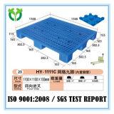 Os pés 1100*1100 9 Stackable recicl a pálete do plástico da venda do Gird