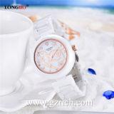 Relojes de cerámica del cuarzo ocasional de lujo de la manera de la marca de fábrica de Longbo