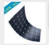 panneau solaire 120W flexible avec l'épreuve de l'eau IP65