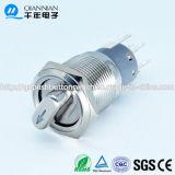Qn19-F1 19mm 2position|commutatore rotante dell'acciaio inossidabile dell'interruttore della freccia del perno 2position