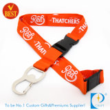Flat Polyester Screen Printed Promotion Lanyards with Eye-Splice