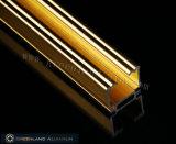 Voie principale aveugle lumineuse de fenêtre en aluminium d'or de qualité