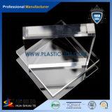 Hoja de acrílico transparente de PMMA con la cuerda de rosca en material de construcción