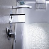 Robinet de douche en marbre avec pommeau de douche en laiton