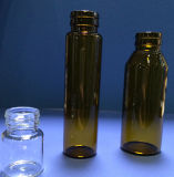 Tubular ambre Glass Bottle pour Syrup Packing
