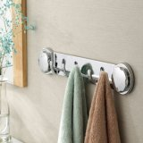 Banheiro Accessories Chromed Plated Towel Hanger com Multiple ABS Hooks