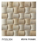 建物の壁の床タイル(FYSSL340)のベージュ自然な石造りのモザイク