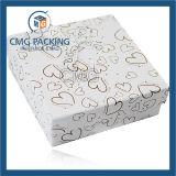 Tapa rígida de la cartulina y rectángulo de papel bajo para la joyería (CMG-015)