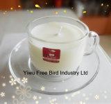 Design atraente Imperial Crown Shaped Decorative Glass Jar Candle