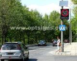 옥외 LED 번쩍이는 도로 소통량 태양 레이다 속도 검출기 표시