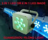 diodo emissor de luz recarregado a pilhas da PARIDADE de 9X15W Rgbaw