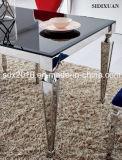 Mesa de centro moderna do aço inoxidável, mesa de centro de vidro