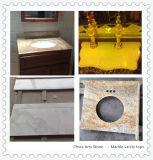 Tapa china de la vanidad del cuarzo del mármol del granito para el cuarto de baño