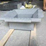 Lavabo et bassin gris foncés noirs de grand dos de granit