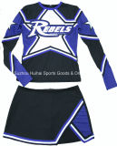 Uniformes longos do Cheerleading da luva do Spandex