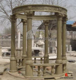 Bianco/Yellow/Red Marble Carving Gazebo per il giardino Decoration