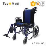アルミニウムHighback横たわるCelebralの麻痺の子供の車椅子