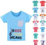 T-shirt do menino dos miúdos na roupa das crianças com desgaste das crianças de Differet