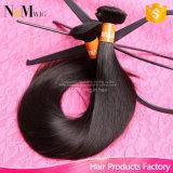 100개의 사람의 모발 뭉치 페루 머리 연장 자연적인 매끄러운 똑바른 파 (QB-PVRH-ST)