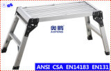 Escada de dobradura telescópica da escada Foldable de alumínio da plataforma (AP-801B)