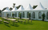 Белый свадебный банкет Tent Big Pagoda Tent Outdoor с Curtains & Linings