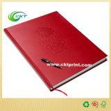 Impression en cuir de livre attaché avec la couverture gravée en relief (CKT-NB-429)