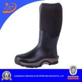 Черноты Mens колена ботинки высокой резиновый