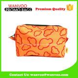 De oranje Zak van de Hand van het Canvas van de Polyester van het Patroon van de Wolk Kosmetische