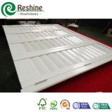 Obturador ajustable del vinilo de la lumbrera de la ventana del PVC del blanco