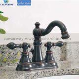 Misturador enegrecido do Faucet de banheira de 3 maneiras