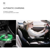 New Automatic Switch and Charging 1 USB Car Charger with Bluetooth Earphone