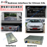 Interface van de Navigatie van de auto de Androïde voor Citroën C4, C5, (SYSTEEM MRN) de Navigatie van de Aanraking van de Verbetering c3-Xr, WiFi, Mirrorlink, het Gegoten Scherm