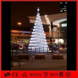H: 120cm White Outdoor Tree Lights Decoration Spiral Christmas Tree