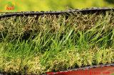 Tappeto erboso artificiale dell'erba della natura del giardino professionale decorativo di verde