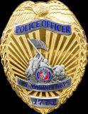 Divisa del metal para el regalo de la divisa de la policía