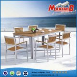 Tabela de jantar de madeira da venda quente e jogo de jantar ao ar livre moderno das cadeiras